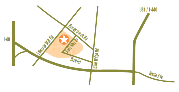 Map of Prairie Ridge Ecostation