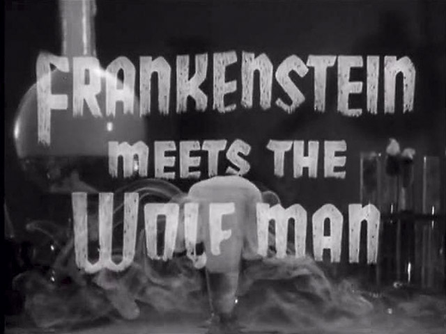 Frankenstein Meets the Wolfman title screen