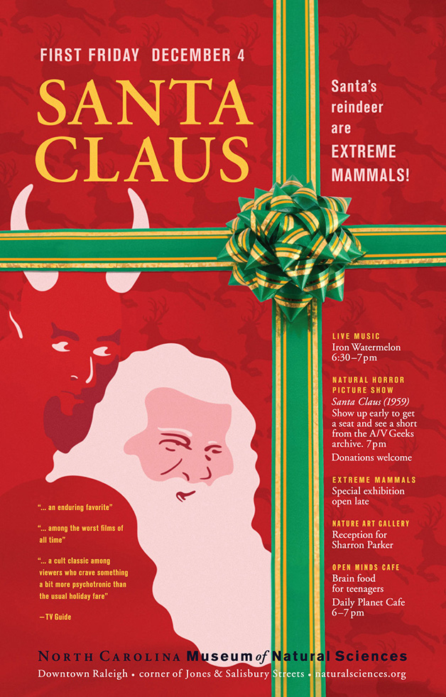 First Friday: Santa Claus poster
