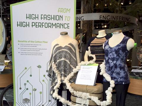 """""""Cotton = High Tech+High Design"""" exhibit."""