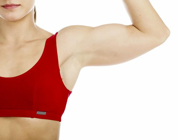 Woman's armpit.