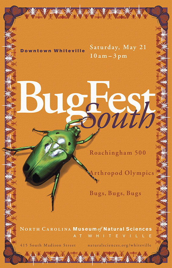 BugFest South, Saturday, May 21, 10am-3pm, Downtown Whiteville, NC