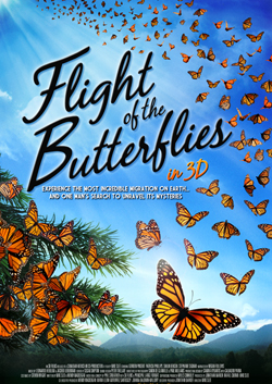 Flight of the Butterflies in 3D movie poster