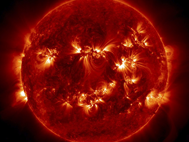 The Sun showing solar flares. Photo: NASA