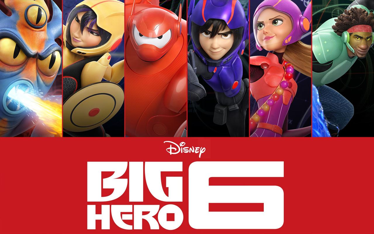 Movie poster image of Big Hero 6 characters