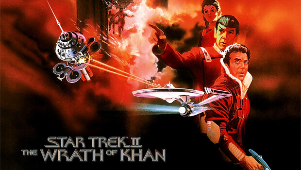 Movie poster of Star Trek 2: Wrath of Khan