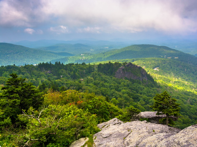 View from the slopes of Grandfather Mountain, near Linville, North Carolina.