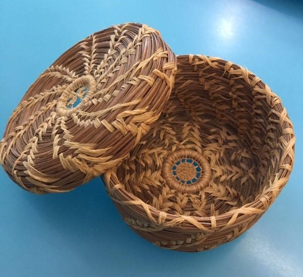 Pine needle basket.