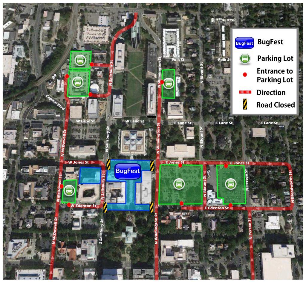 BugFest Parking Map