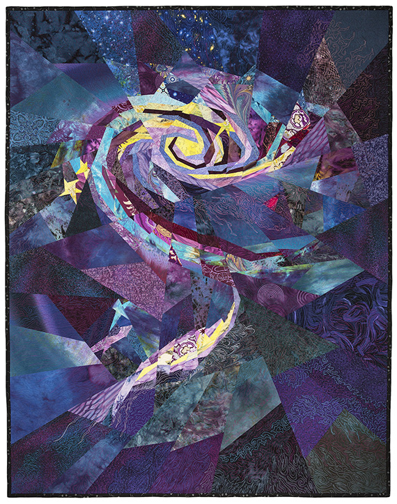 Interacting Galaxies: quilt by Ann Harwell