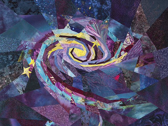 Interacting Galaxies: quilt by Ann Harwell.