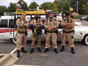 North Carolina Ghostbusters with car