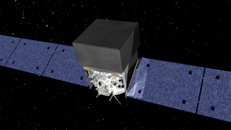 Artist's concept of Fermi Gamma-ray Space Telescope. Image credit: NASA.