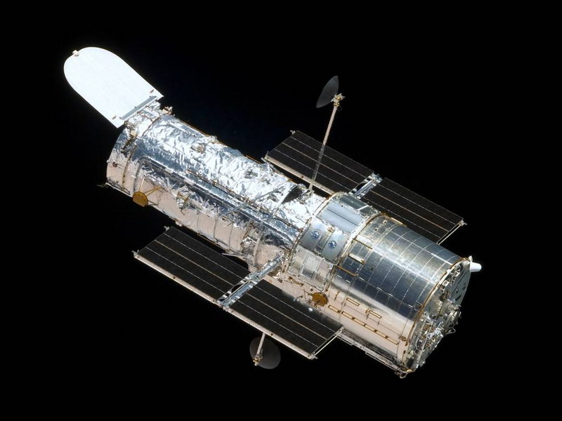 This photograph of NASA's Hubble Space Telescope was taken on the fourth servicing mission to the observatory in 2009. Image credit: NASA.