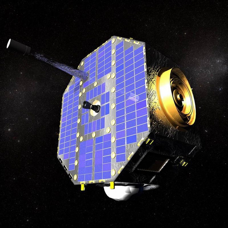 Artist's rendition of IBEX spacecraft. Image credit: NASA.
