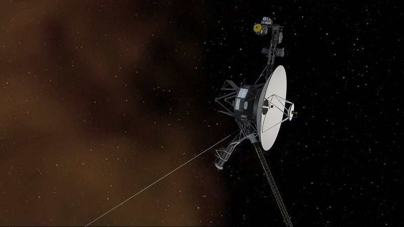 This artist's concept depicts NASA's Voyager 1 spacecraft entering interstellar space, or the space between stars. Image credit: NASA/JPL-Caltech.