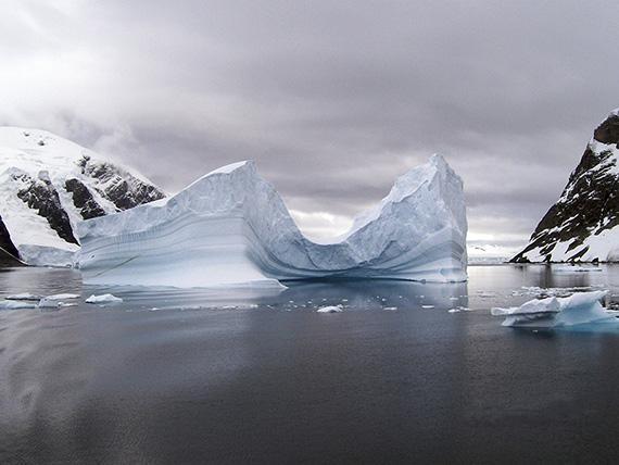 Concave Iceberg, Antarctica. Photo by Norma Longo.