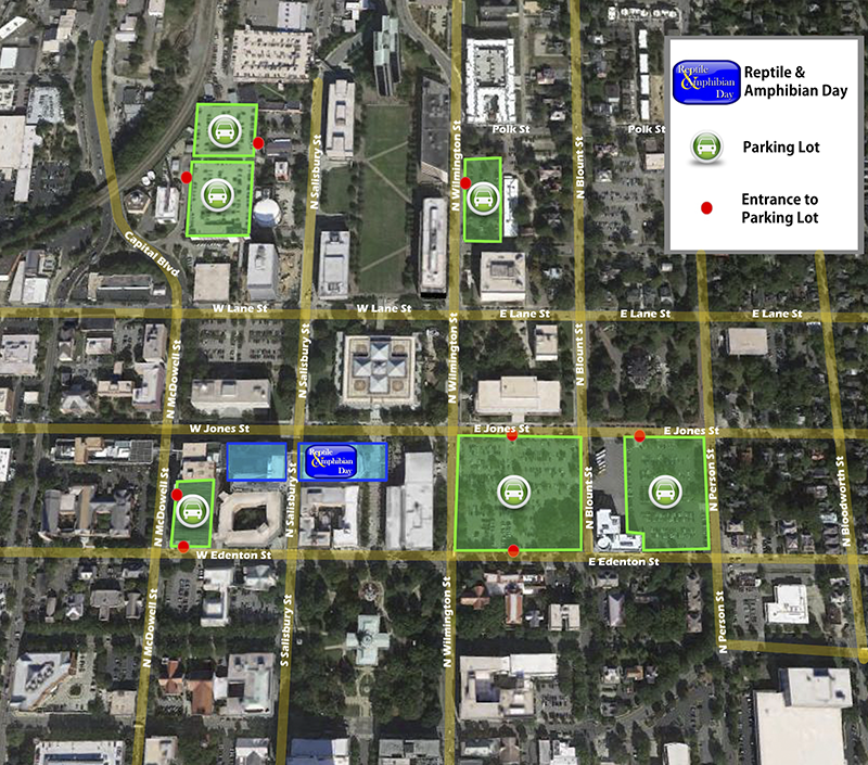 Reptile and Amphibian Day parking map