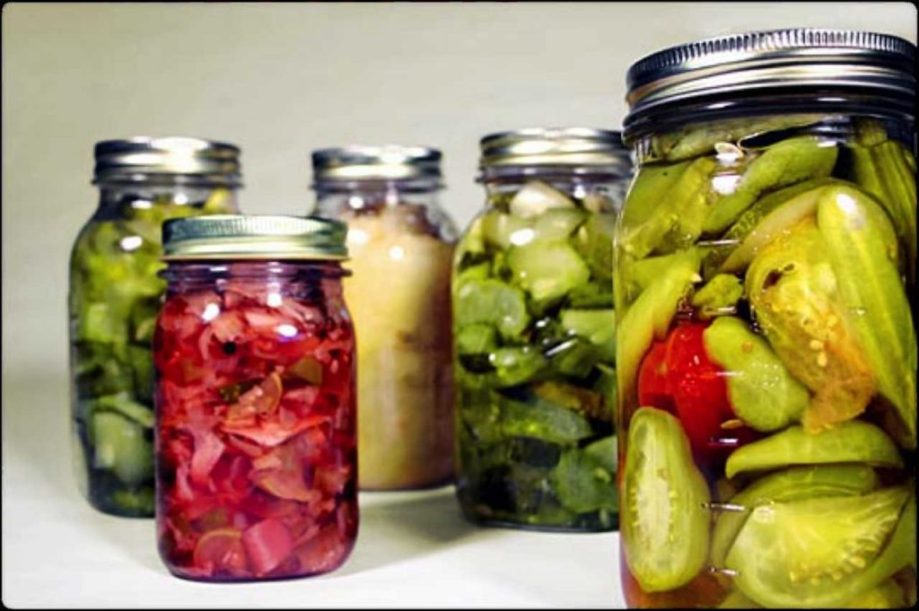 Fermented food in jars
