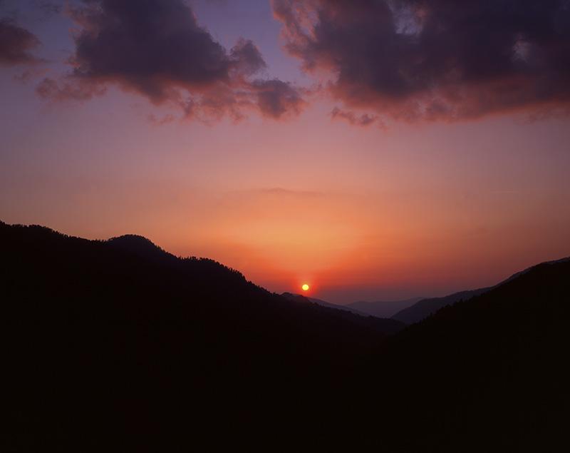 Sunset, Mt. Mingus by John Moore.
