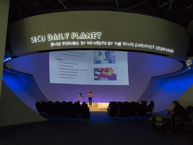 NCCU Grad Student Presentation in the SECU Daily Planet Theater