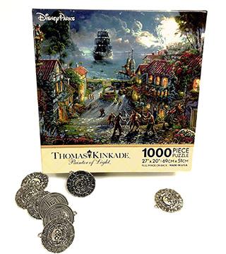 "Thomas Kinkade ""Pirates of the Caribbean"" puzzle - trivia prize"