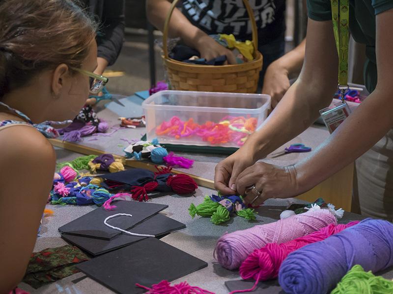 Making yarn toys