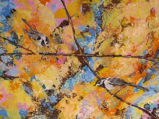 Carolina Chickadee Quintet, by Ruth Ananda - detail