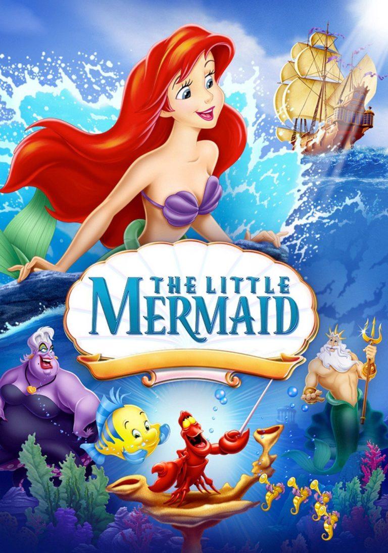 The movie cover art for Disney's The Little Mermaid.