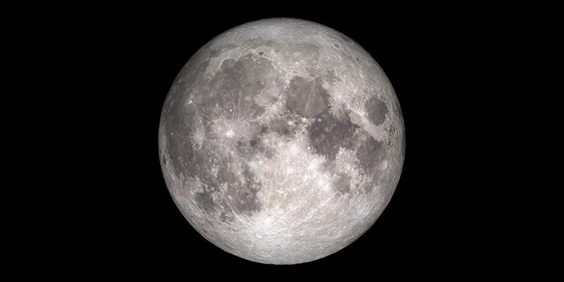 Rare full moon on Christmas Day, 2015.
