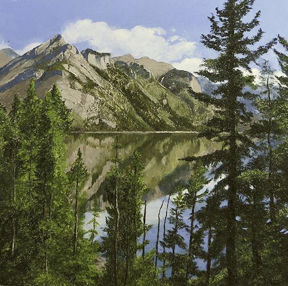 Mountain Reflection by Joan Meade