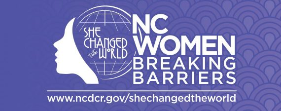She changed the world logo banner