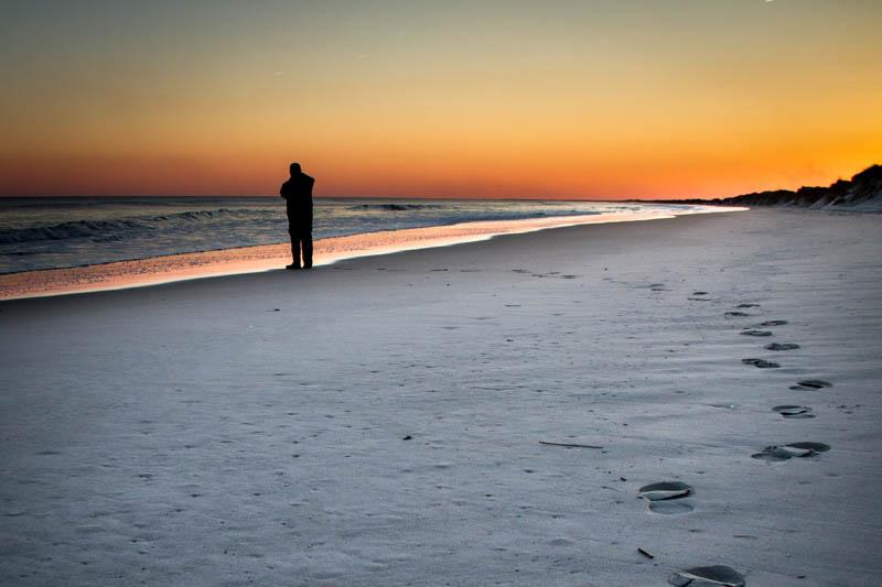 NC beach at sunset