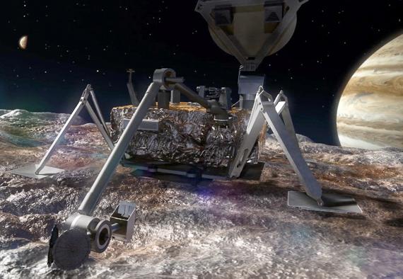 Europa Lander: Potential Future Mission Concept art