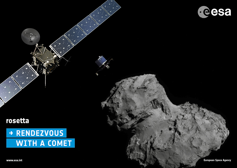Rosetta: Rendezvous With a Comet. Image: European Space Agency