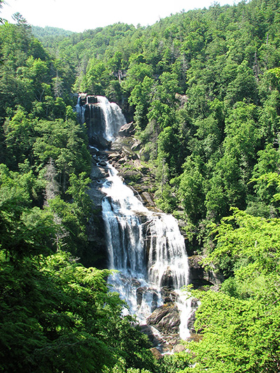 Whitewater Falls in Transylvania County, the tallest waterfall in the eastern US.