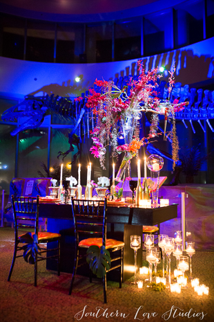 Candlelit table for two in the Acro Dome.