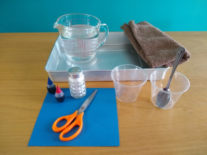 materials for water density experiment.