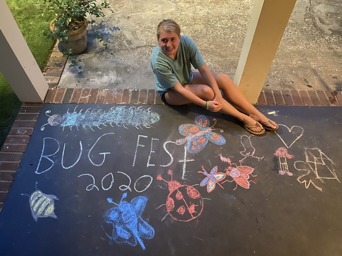 Someone sitting next to chalk bugfest and bugs