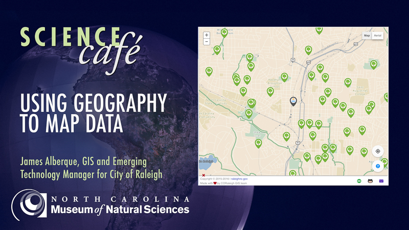 Science Cafe: Using Geography to Map Data.