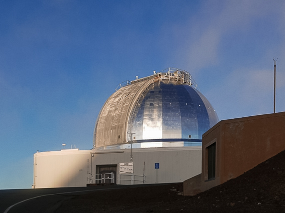 The Infrared Telescope Facility on the summit of Maunakea, Hawaii.