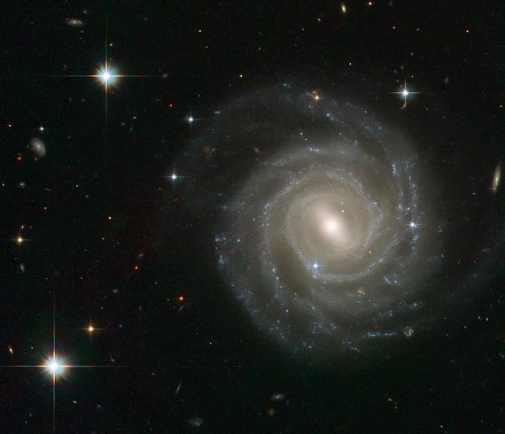 UGC 12158, a barred spiral galaxy. Credit: ESA/Hubble & NASA.