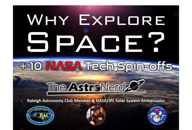 Why Explore Space? graphic with logos