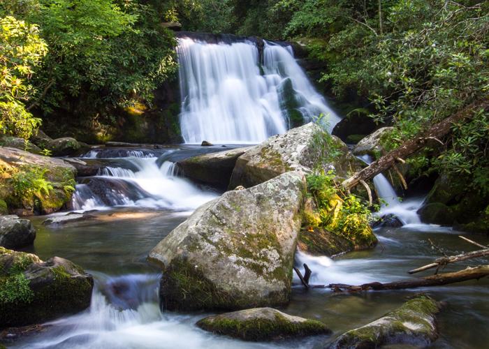 Beautiful cascade of Yellow Creek Falls.