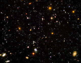 Hubble Ultra Deep Field image, cropped. Image credit: NASA, ESA, and S. Beckwith (STScI) and the HUDF Team.