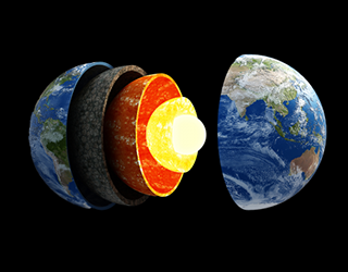 Diagram of a planet's layers