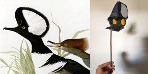 Audubon bird painting and example sculpture that could be made during this program