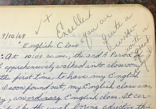 Teacher Terry Doyle's feedback meant so much.