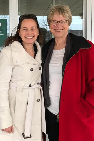 A recent photo of Julie with Dr. Karen Friderici.