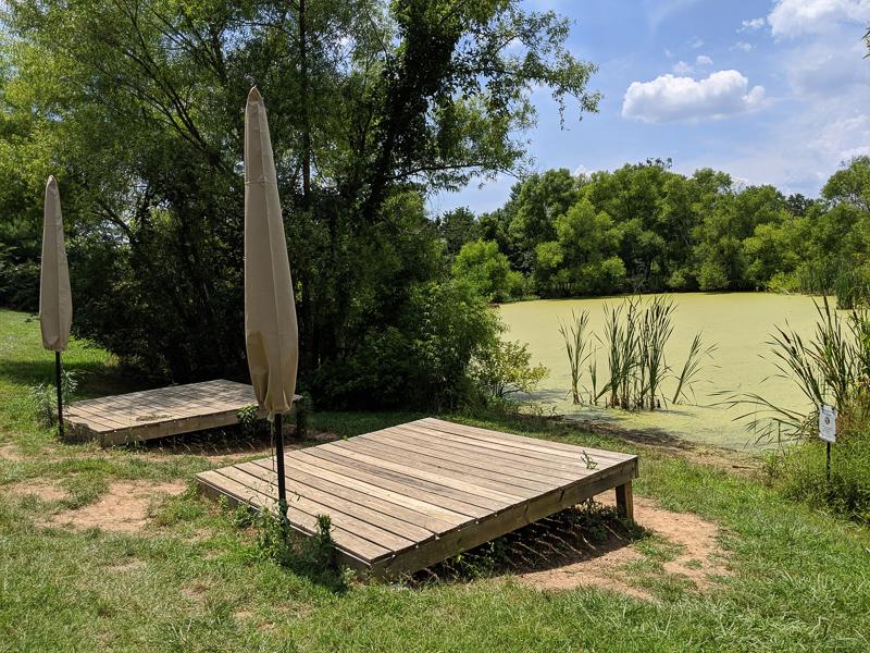 pond platforms